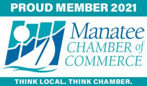 2021 Manatee Chamber of Commerce Proud Member Logo Bradenton Florida Lakewood Ranch Parrish Ellenton Palmetto Anna Maria Island Screenprinting and Embroidered Apparel and Gifts