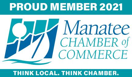 2021 Manatee Chamber of Commerce Proud Member Logo Bradenton Florida Lakewood Ranch Parrish Ellenton Palmetto Anna Maria Island